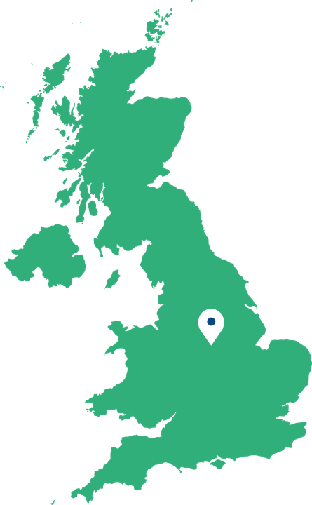 where we are based in Derbyshire, Midlands